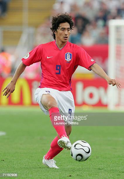 JungHwan Ahn of South Korea in action during the FIFA World Cup Germany 2006 Group G match between South Korea and Togo at the Stadium Frankfurt on...
