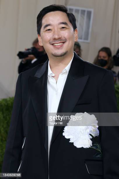 """Junghyun Park attends the 2021 Met Gala benefit """"In America: A Lexicon of Fashion"""" at Metropolitan Museum of Art on September 13, 2021 in New York..."""