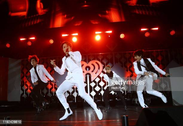 Jungkook, J-Hope, Jimin, and V of BTS perform onstage during 102.7 KIIS FM's Jingle Ball 2019 Presented by Capital One at the Forum on December 6,...
