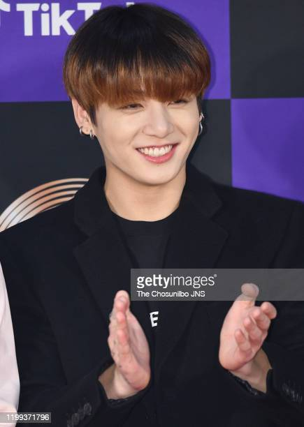 Jungkook of Bangtan Boys arrives at the photocall for the 34th Golden Disc Awards on January 05 2020 in Seoul South Korea