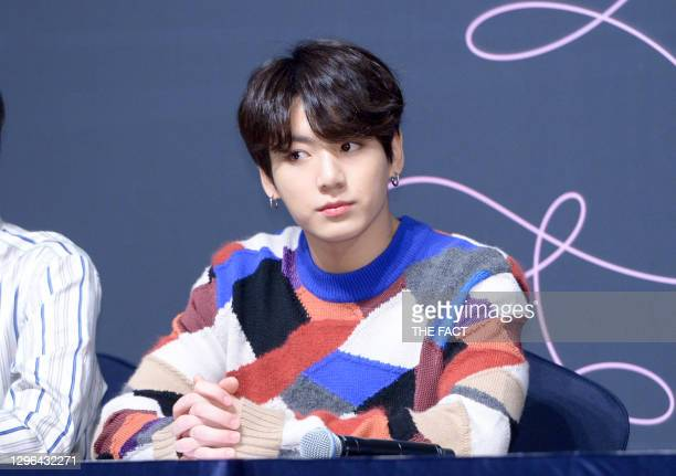 Jungkook of BTS attends press conference for the BTS's Third Album 'LOVE YOURSELF : Tear' Release at Lotte Hotel Seoul on May 24, 2018 in Seoul,...