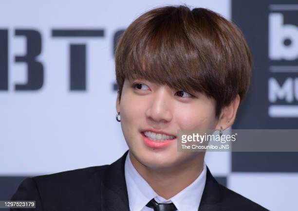 Jungkook of BTS attends the press conference for 2017 Billboard Music Award at Lotte Hotel Seoul on May 29, 2017 in Seoul, South Korea.
