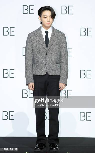 Jungkook of BTS during BTS's New Album 'BE ' Release Press Conference at Dongdaemun Design Plaza on November 20, 2020 in Seoul, South Korea.