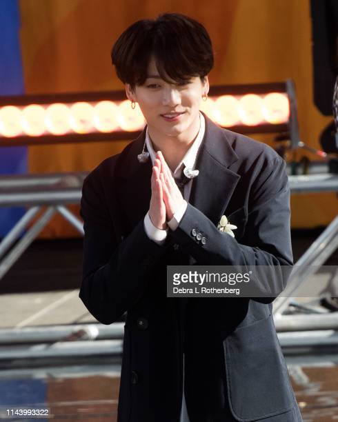 Jungkook of BTS performs on Good Morning America's Summer Concert Series from Rumsey Playfield in Central Park on May 15 2019 in New York City
