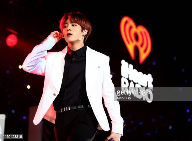 Jungkook of BTS performs onstage during 1027 KIIS FM's Jingle Ball 2019 Presented by Capital One at the Forum on December 6 2019 in Los Angeles...