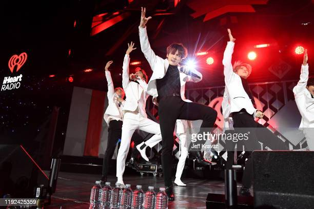 Jungkook of BTS performs onstage during 102.7 KIIS FM's Jingle Ball 2019 Presented by Capital One at the Forum on December 6, 2019 in Los Angeles,...