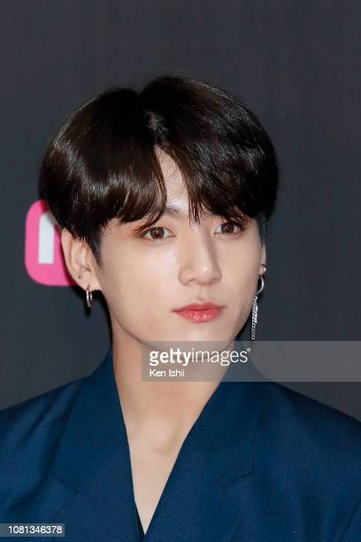 JungKook of South Korean boy group attends the 2018 Mnet Music Awards FANS' CHOICE in Japan at Saitama Super Arena on December 12 2018 in Saitama...