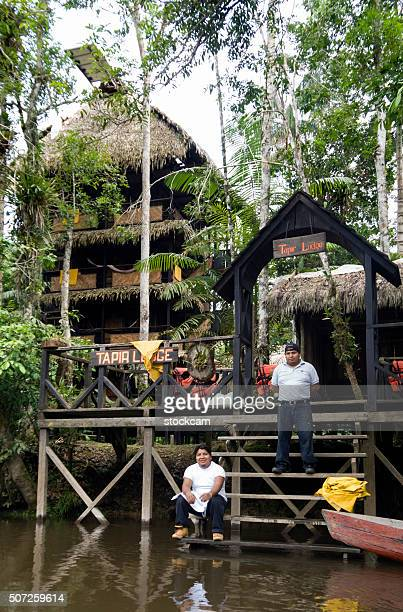 Jungle lodge in Ecuador rainforest