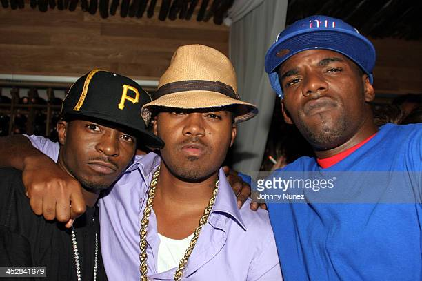 Jungle, Nas and Guest during Nas Birthday Party - September 12, 2005 at Butter in New York City, New York, United States.