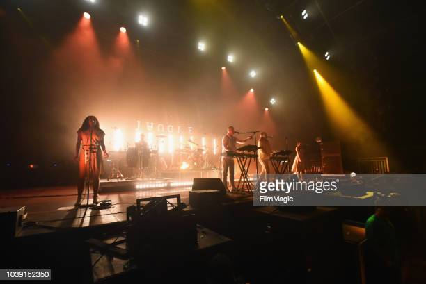 Jungle performs on Fremont Stage during the 2018 Life Is Beautiful Festival on September 23 2018 in Las Vegas Nevada
