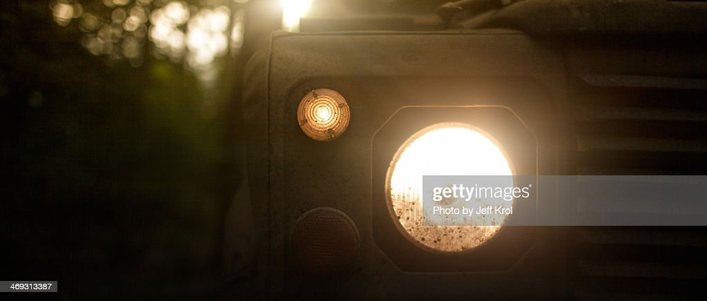 Jungle Ride in a Landrover : Stock Photo
