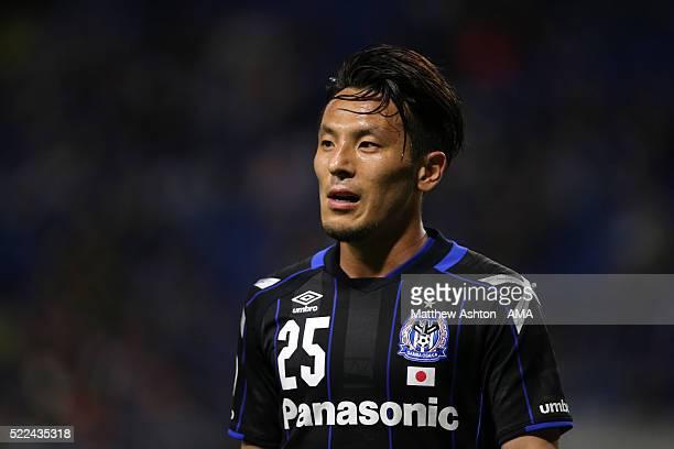 Jungo Fujimoto of Gamba Osaka during the AFC Champions League Group G match between Gamba Osaka and Suwon Samsung Bluewings at Suita City Football...
