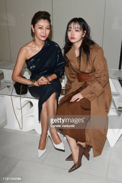 Jungsu Pyeon and Byun Jung Soo attend the Max Mara show during Milan Fashion Week Fall/Winter 2019/20 on February 21 2019 in Milan Italy