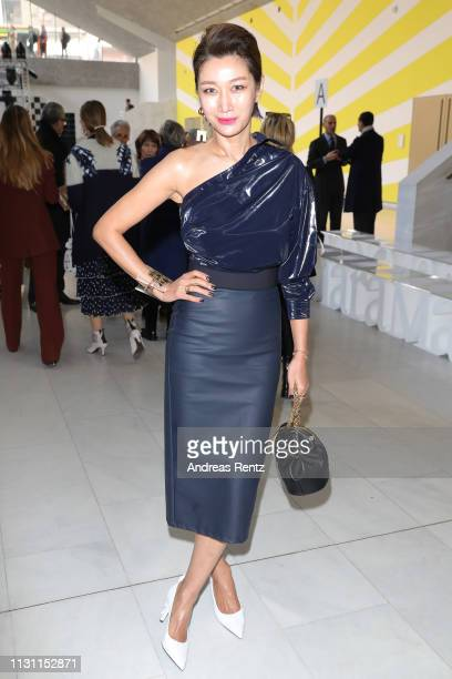 Jungsu Pyeon attends the Max Mara show during Milan Fashion Week Fall/Winter 2019/20 on February 21 2019 in Milan Italy