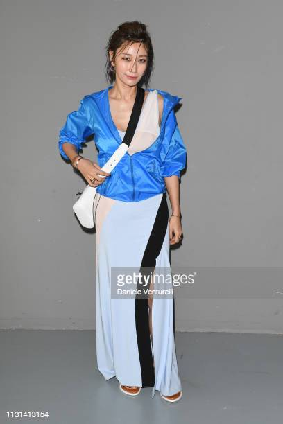 Jungsu Pyeon attends the Sportmax show during Milan Fashion Week Fall/Winter 2019/20 on February 22 2019 in Milan Italy