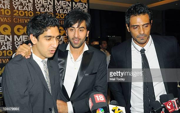 Juniad Khan Ranbir Kapoor and Arjun Rampal at the 'GQ Men of the Year Awards 2010' in Mumbai on September 26 2010