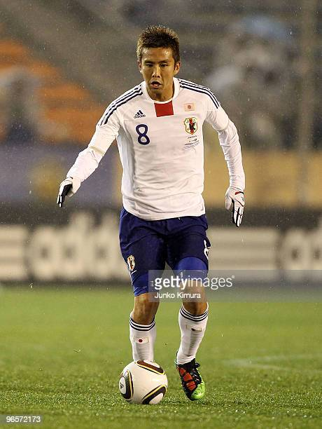 Junichi Inamoto of Japan in action during the East Asian Football Championship 2010 match between Japan and Hong Kong at the National Stadium on...
