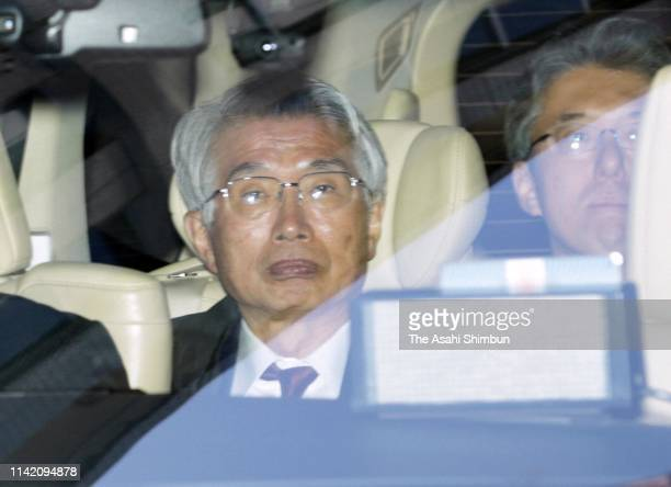 Junichiro Hironaka lawyer for former Nissan Motor CEO Carlos Ghosn is seen on arrival at the Tokyo District Court after Carole Ghosn questioned from...