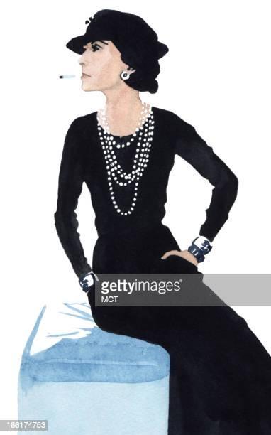 Junie BroJorgensen color illustration of Coco Chanel