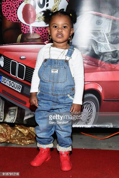 Junie Shumpert attends the Junie Bee Nail Salon grand opening on February 15 2018 in New York City