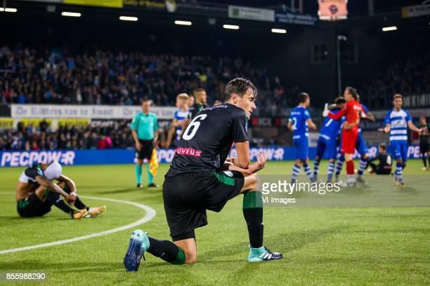 Juninho Bacuna of FC Groningen Etienne Reijnen of FC Groningen during the Dutch Eredivisie match between PEC Zwolle and FC Groningen at the MAC3Park...
