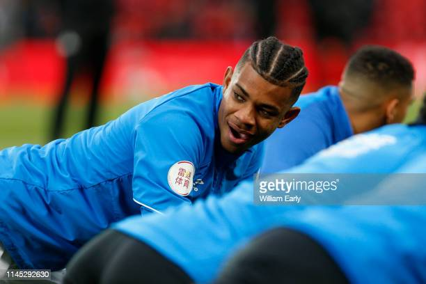 Juninho Bacuna of Huddersfield Town before the Premier League match between Liverpool FC and Huddersfield Town at Anfield on April 26 2019 in...