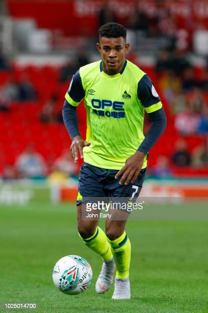 Juninho Bacuna of Huddersfield Town during the Carabao Cup Second Round match between Stoke City and Huddersfield Town at Bet365 Stadium on August 28...