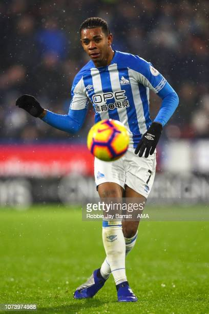 Juninho Bacuna of Huddersfield Town during the Premier League match between Huddersfield Town and Newcastle United at John Smith's Stadium on...