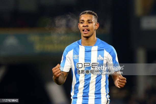 Juninho Bacuna of Huddersfield Town during the Premier League match between Huddersfield Town and Wolverhampton Wanderers at John Smith's Stadium on...