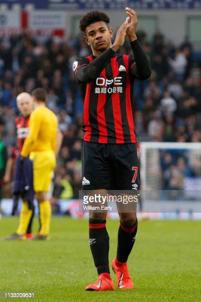 Juninho Bacuna of Huddersfield Town during the Premier League match between Brighton Hove Albion and Huddersfield Town at American Express Community...