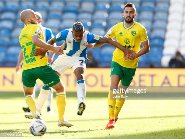 Juninho Bacuna of Huddersfield Town during the Sky Bet Championship match between Huddersfield Town and Norwich City at John Smith's Stadium on...