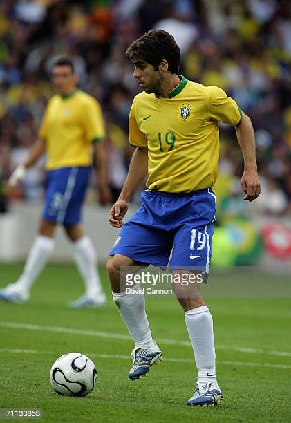 Juninho of Brazil during the international friendly match between Brazil and New Zealand at the Stadium de Geneva on June 4, 2006 in Geneva ,...