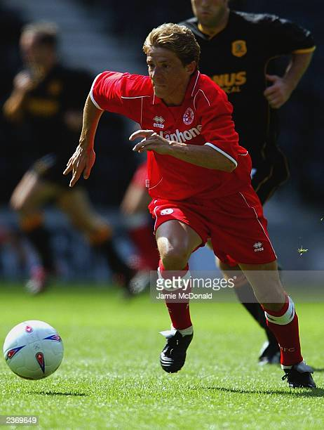 Juninho of Middlesbrough makes a break forward during the Pre-Season Friendly match between Hull City and Middlesbrough held on July 26, 2003 at the...