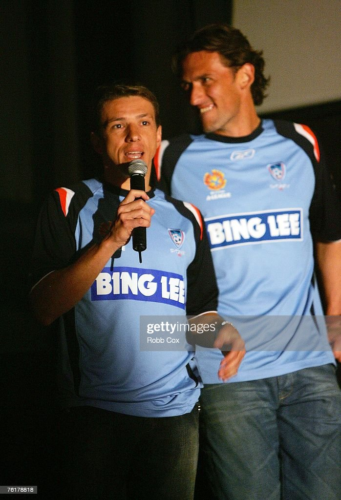 Juninho of Sydney FC addresses the media during the 2007/2008 A-League Season Launch at The Entertainment Quarter on August 20, 2007 in Sydney, Australia.