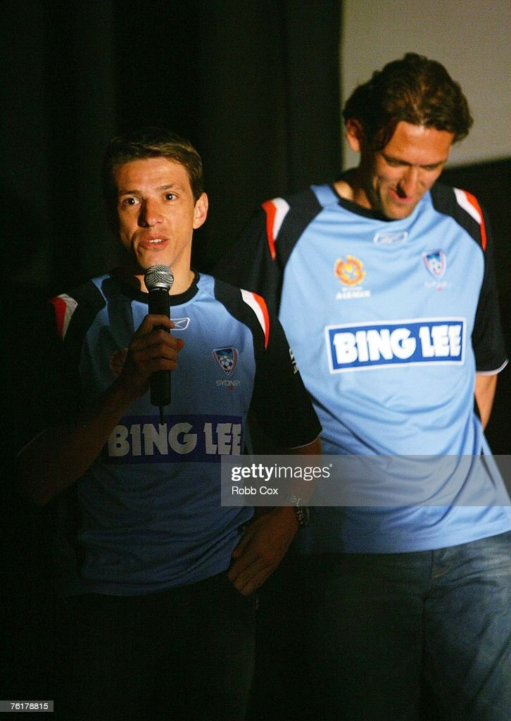 Juninho of Sydney FC talks to the audience during the 2007/2008 A-League Season Launch at The Entertainment Quarter on August 20, 2007 in Sydney, Australia.