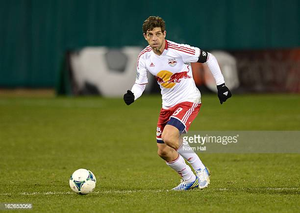 Juninho of the New York Red Bulls brings the ball up field against the Seattle Sounders at Kino Sports Complex on February 20 2013 in Tucson Arizona