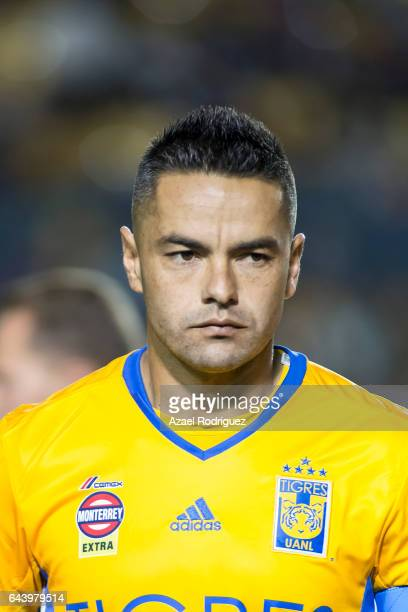 Juninho of Tigres pose prior the quarterfinals first leg match between Tigres UANL and Pumas UNAM as part of the CONCACAF Champions League 2017 at...