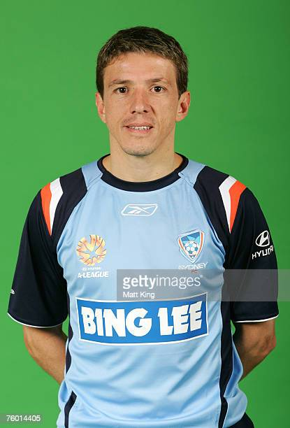 Juninho Paulista of Sydney FC poses during the official 2007/2008 Hyundai ALeague portrait session at the Sydney Football Stadium August 6 2007 in...