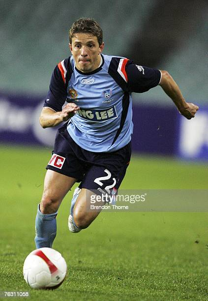 Juninho Paulista of Sydney runs with the ball during the round one Hyundai ALeague match between Sydney FC and Central Coast Mariners at the Sydney...