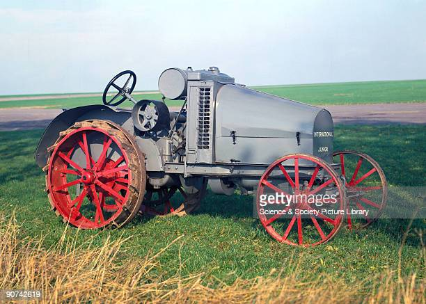 Junior' 8/16 hp agricultural tractor with a fourcylinder gasoline /kerosene engine manufactured by the International Harvester Corporation Chicago...