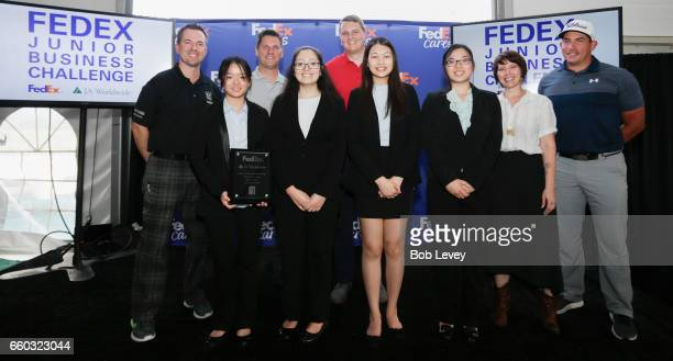 Junior Achievement of Southeast Texas students from Klein Collins High School are joined by Will Haskett of SiriusXM PGA TOUR Radio and judging panel...