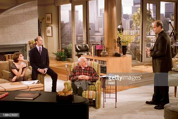 FRASIER Junior Agent Episode 10 Aired 10/27/01 Pictured Jane Leeves as Daphne Moon David Hyde Pierce as Dr Niles Crane John Mahoney as Martin Crane...