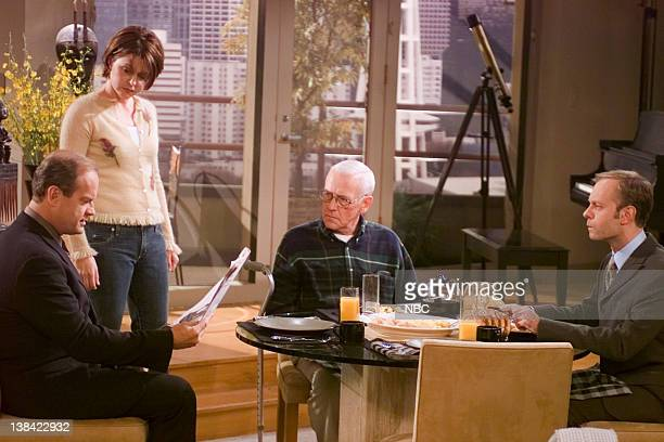 FRASIER Junior Agent Episode 10 Aired 10/27/01 Pictured Kelsey Grammer as Dr Frasier Crane Jane Leeves as Daphne Moon John Mahoney as Martin Crane...