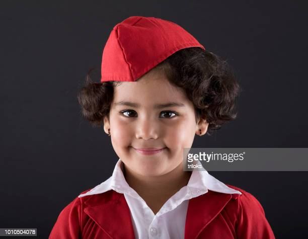 junior air stewardess - uniform cap stock pictures, royalty-free photos & images