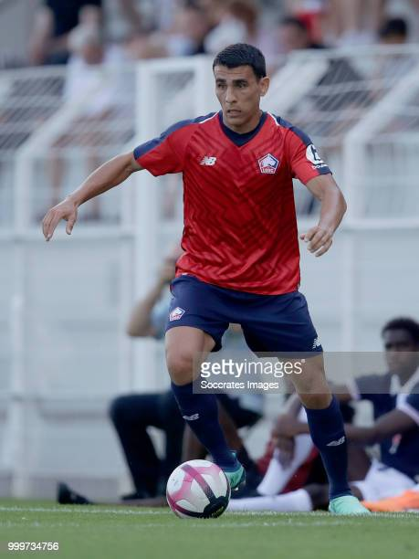 Junior Alonso Mujica of Lille during the Club Friendly match between Lille v Reims at the Stade Paul Debresie on July 14 2018 in Saint Quentin France