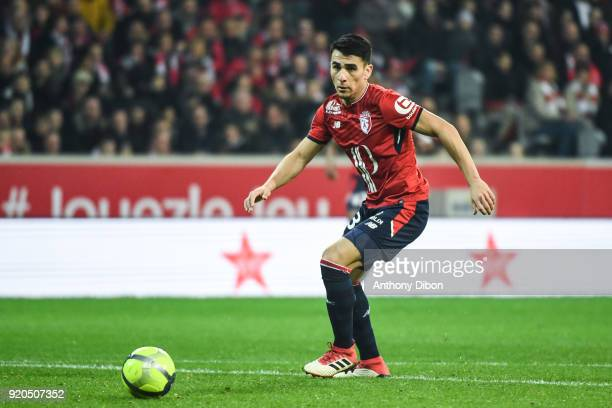 Junior Alonso of Lille during the Ligue 1 match between Lille OSC and Olympique Lyonnais at Stade Pierre Mauroy on February 18 2018 in Lille