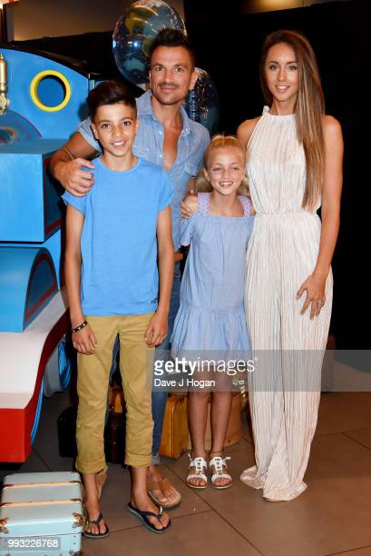 Junior Andre Peter Andre Princess Tiaamii Andre and Emily MacDonagh attend the UK premiere of 'Thomas The Tank Engine Big World Big Adventures The...