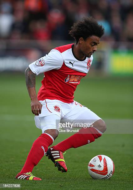 Junior Brown of Fleetwood Town in action during the Sky Bet League Two match between Fleetwood Town and Chesterfield at Highbury Stadium on October...