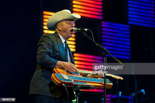 Junior Brown performs during the Domino Effect benefit concert at the New Orleans Arena on May 30 2009 in New Orleans Louisiana