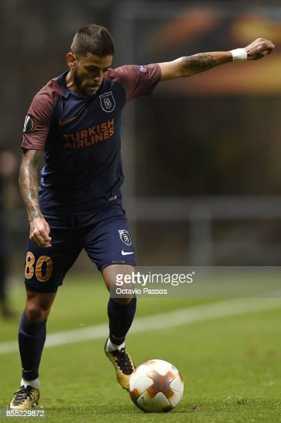 Junior Caicara of Basaksehir F.K. In action during the UEFA Europa League group C match between Sporting Braga and Istanbul Basaksehir F.K. At...